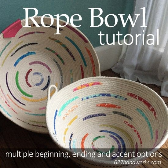 Rope Bowl Tutorial | 627handworks | a quilting blog | Bloglovin'