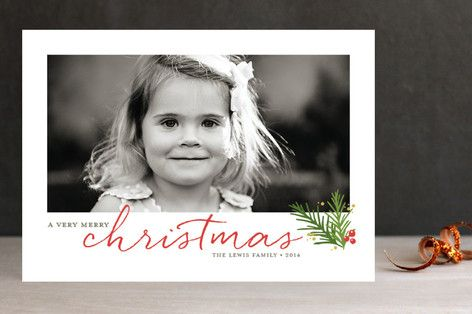 A Merry Sprig Christmas Photo Cards by Jessica Williams at minted.com