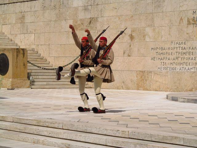 Наш отдых в Греции. Пелопоннес, Патры. Афины, почетный караул.
