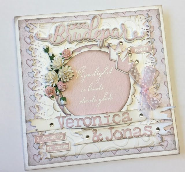 Lene'S Stempelkrok: DT Papirdesign- Kjære brudepar