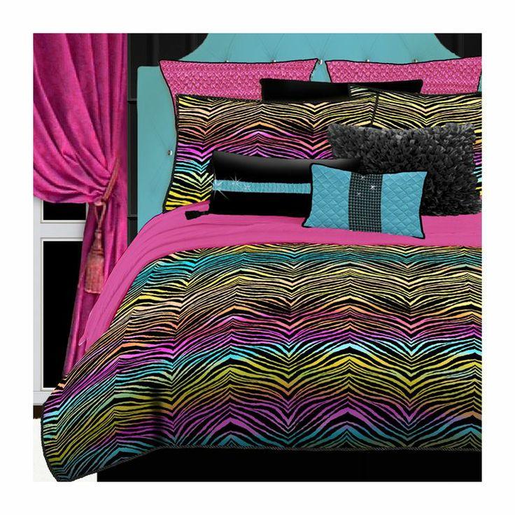 Rainbow Zebra Bedding Collection