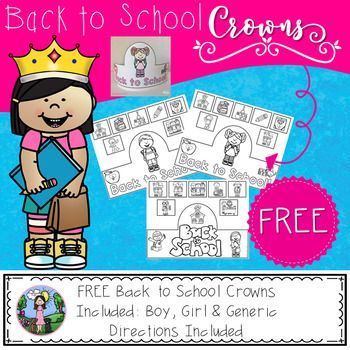 These sentence strip crowns are perfect for your students to color and create on the first day of school or even during the first week of school! The crowns are easy to make and you only need the crown template, a sentence strip, crayons and glue! Enjoy this FREE back to school activity!