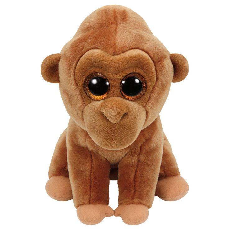 Ty Classic pluchen knuffel genaamd Monroe. Deze aap is 33 cm groot en heeft een gouden glinstering in haar grote kraalogen. Door haar zachte vachtje kun je heerlijk met Monroe knuffelen en door de stevige vulling onderin blijft de Ty Classic ook los gemakkelijk rechtop staan. Afmeting: lengte 33 cm - Ty Classic Knuffel Aap Monroe