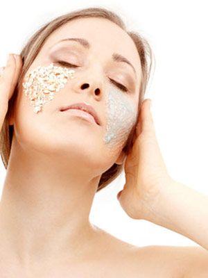 Oatmeal facial mask