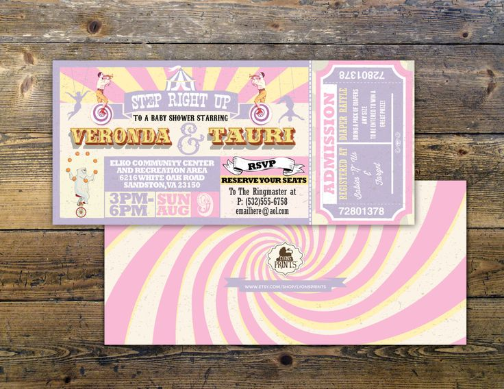 #BabyShowerInvitation CIRCUS Baby Shower Invitation- Carnival baby shower invitation-Coed baby shower invitation- Animal baby shower invitation-couples shower invitation baby shower circus shower carnival ticket ticket invitation vintage circus circus wedding circus invite carnival baby girl coed baby shower Pastel 20.00 USD LyonsPrints