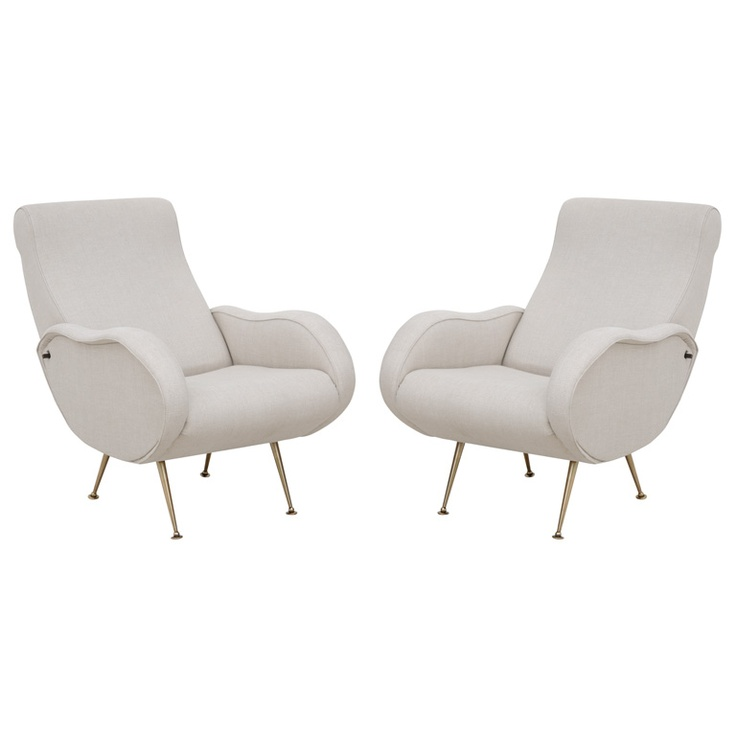 1stdibs - Rare Pair of Marco Zanuso Reclining Armchairs explore items from 1,700  global dealers at 1stdibs.com