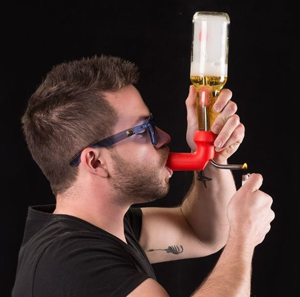 The Knockout is a badass invention that allows you to take partying to the next level. Instantly turn any bottle into a beer bong, a gravity bong...