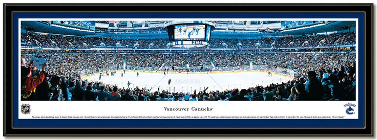 Vancouver Canucks Rogers Arena  panoramic poster, Home of the NHL hockey team Panoramic NHL framed picture #Nuckers  #VancouverCanucks