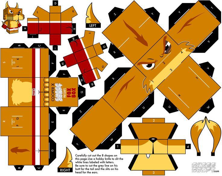 Mejores 194 imágenes de Paper craft, papier toys etc en Pinterest ...