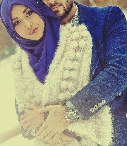 Cute muslim couple