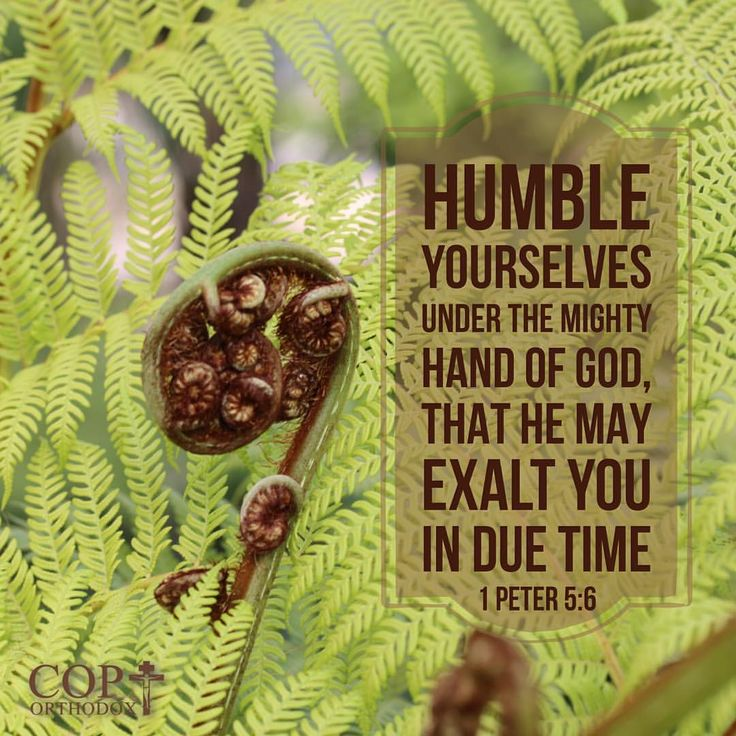 1 Peter 5:6 Therefore humble yourselves under the mighty hand of God, that He may exalt you in due time