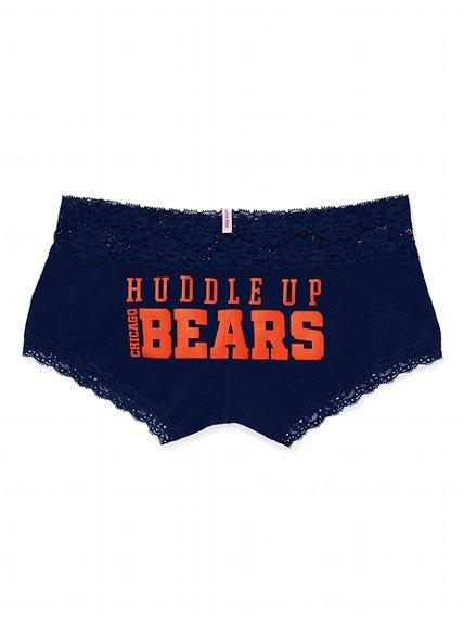 Victoria's Secret PINKChicago Bears Lace Trim Boyshort Panty