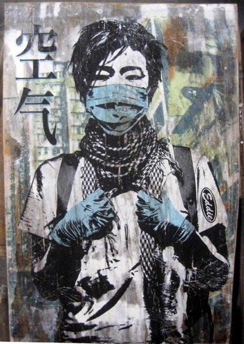 street art stencil by Eddie Colla