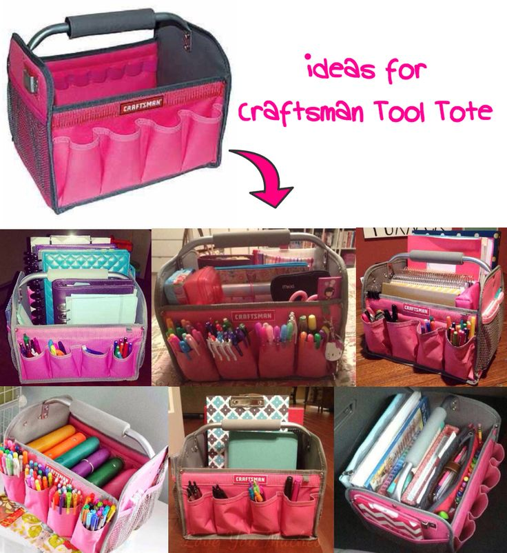 (Ideas for Craftsman Tool Tote...!)