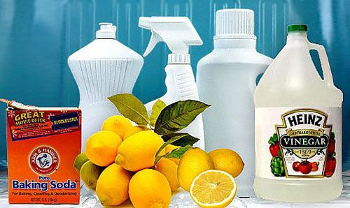Recipes for natural cleaning stuff. Cheap and safe.