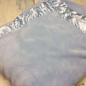 Simply Shabby Chic Queen Cozy Blanket Plush 2 Ply Polyester Blue Satin Trim