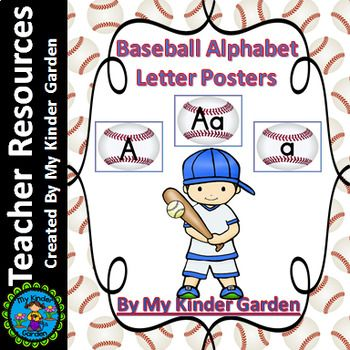 Baseball Full Page Alphabet Letter Posters / Word Wall Headers Here is a set of large full page Baseball Letter Posters. The posters contain a page with each uppercase letter, each lowercase letter, and a page with the uppercase letter along with the matching lowercase letter.