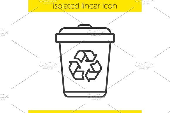 Recycle bin linear icon by Icons Factory on @creativemarket