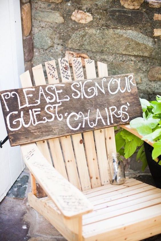chaise mots invites mariage