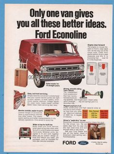1971 Ford Econoline van E-100 E-200 E-300 vintage magazine photo ad