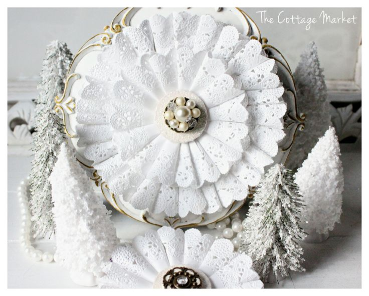 Christmas in White Tutorial: full tutorial with pics...looks pretty easy but stunningly beautiful, must make this!