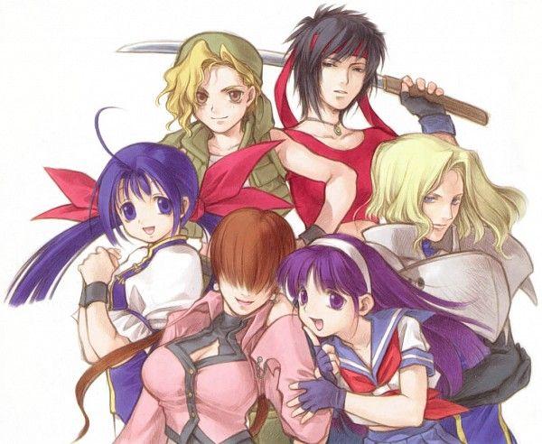 SNK Playmore - Kasamoto Eri, Futaba Hotaru, Shermie, Athena, Charlotte Christine de Colde, and Rosa