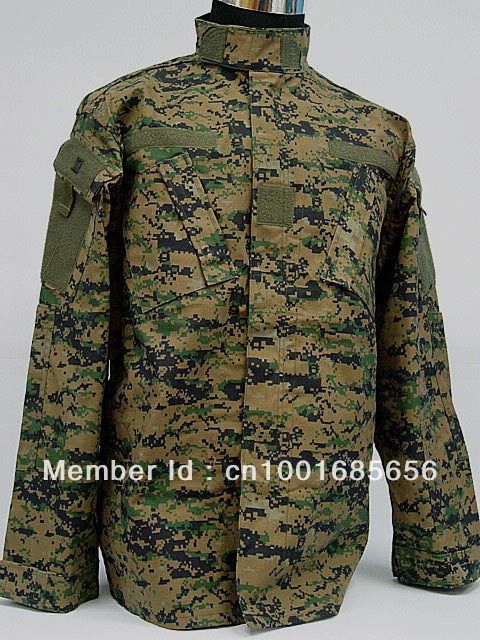 USMC Army Navy BDU Uniform Set Digital Camo Woodland DD Multi Camo Desert Camo Digital Camo blue camouflage