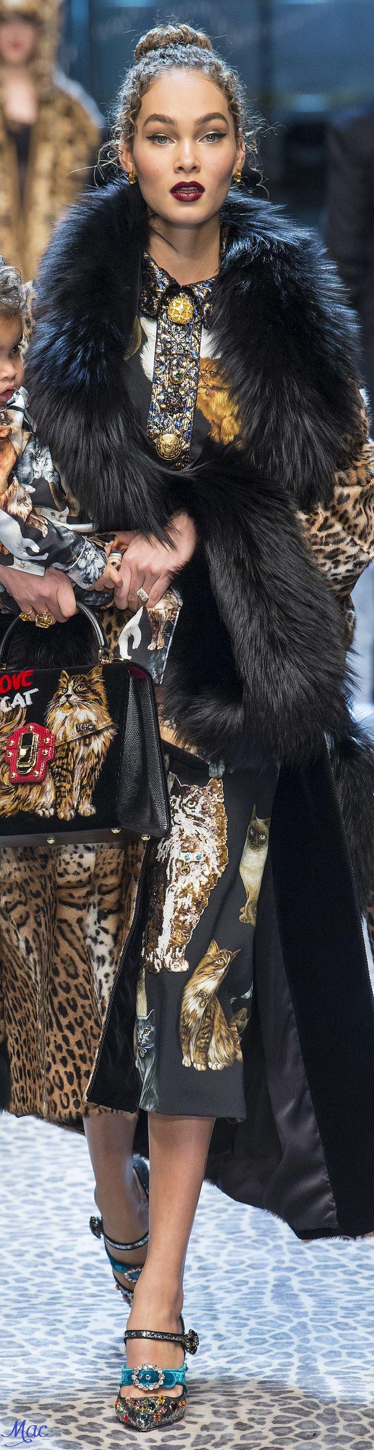 Rosamaria G Frangini | BlackKaleidoscope |  Fall 2017 RTW Dolce & Gabbana