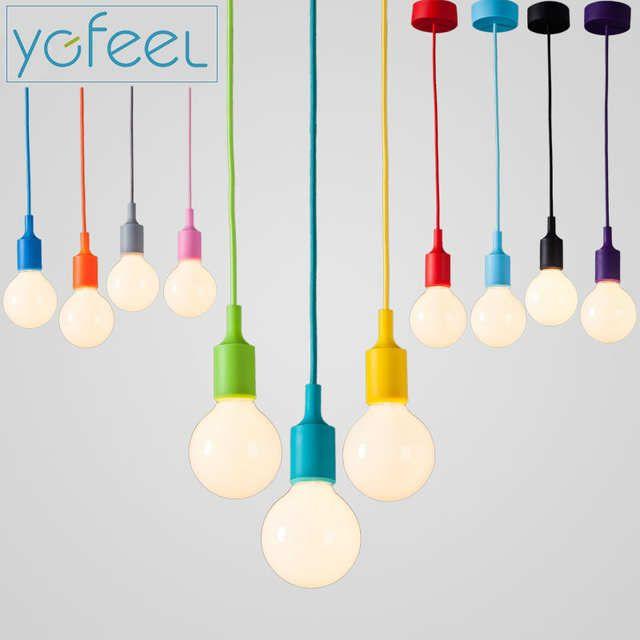 Online Shop Ygfeel Modern Colorful Pendant Lights Dining Room Pendant Lamps Silica Gel Material Vintage Pendant Lamp Diy Pendant Light Colorful Pendant Light