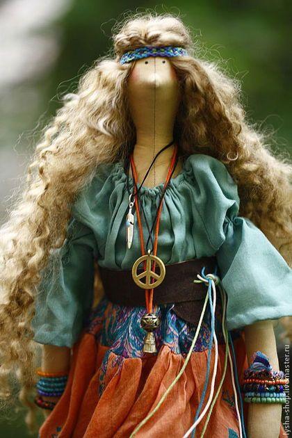 Куклы Тильды ручной работы. Ярмарка Мастеров - ручная работа. Купить Вудсток. Handmade. Хиппи, тильда, кожа натуральная
