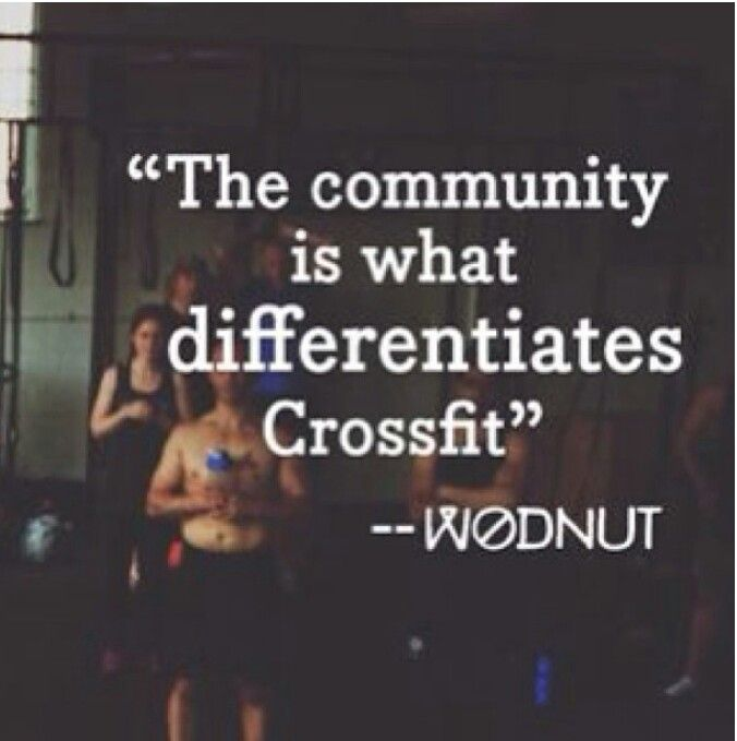 This is so incredibly true and something that can really only be understood by those in the community #crossfit