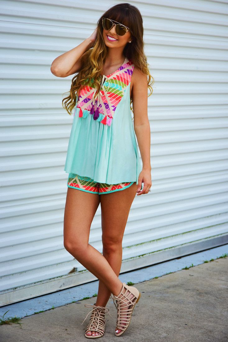 Judith March: Crazy Beautiful Life Top: Mint/Multi #shophopes