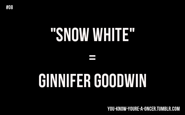 You hear the word 'snow' and immediately have a mental picture of Snow White/ Mary Margaret/ the wonderful Ginnifer Goodwin. ~snugglykittykitty