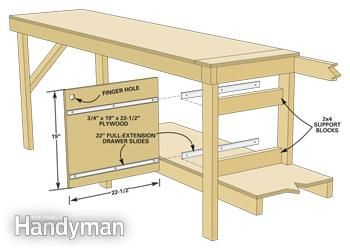Five foldout features make this bench a perfect project for even small shop spaces.