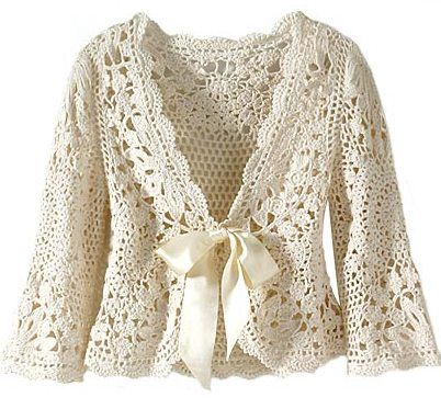 Beautiful cardigan with the pattern but alas, it's in another language (Spanish?) There is a stitch diagram.
