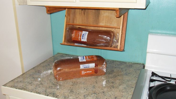 Under Counter Bread Box American Made Wood Products