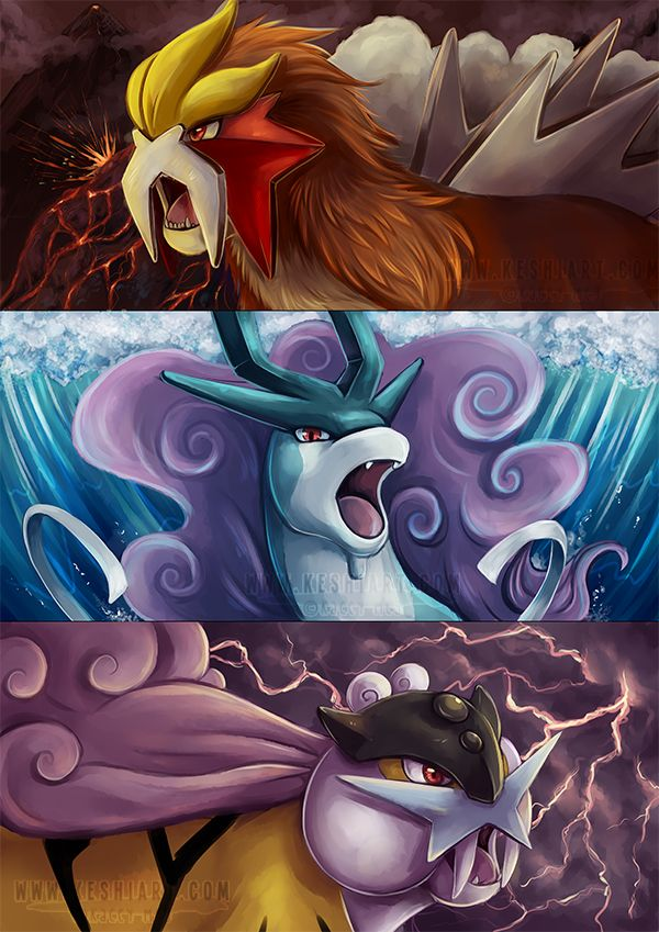 Legendary Beast Trio by KaceyMeg.deviantart.com on @deviantART