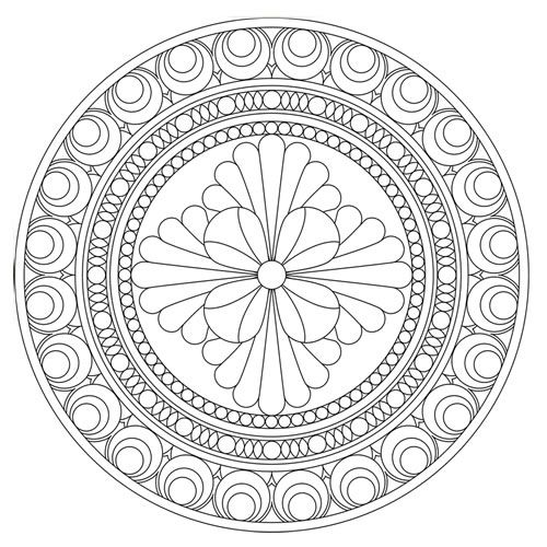 Some Day I Will Draw More Mandalas To Share But For Now The Work Of Others Have Appreciation Mandala Coloring Page