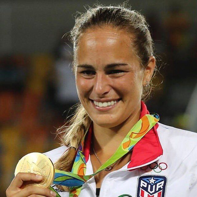 """From Monica Puig: """"Oh what a time... To be alive!!!! Im still in shock! Thanks for all the beautiful messages! I love you all!!! ❤️"""" - Rio 2016"""