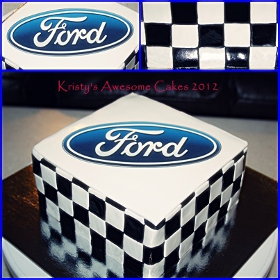 AWESOME Ford cake  For my ford loving man <3