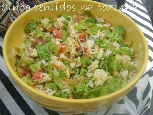 Cinco sentidos na cozinha: Salada de arroz com vinagrete balsâmico