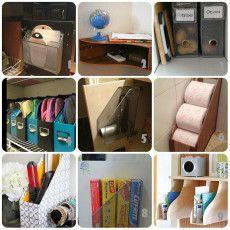 usi creativi per organizzare la casa dei raccoglitori da scrivania