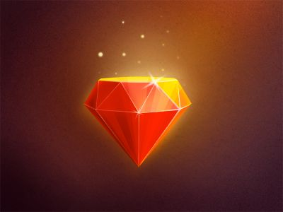 diamond. i LOVE the shine and the bright spots i can see on this. having the diamond be red really creates some nice shading