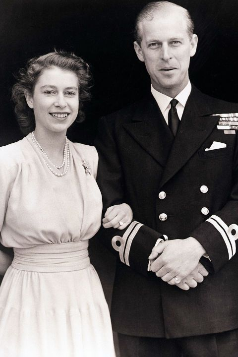 The diamond on Queen Elizabeth II's engagement ring came from a tiara owned by Prince Phillip's mother, Princess Alice of Battenberg.