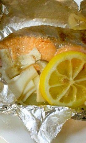包み方伝授☆鮭のホイル焼き by カルピネット [クックパッド] 簡単おいしいみんなのレシピが247万品