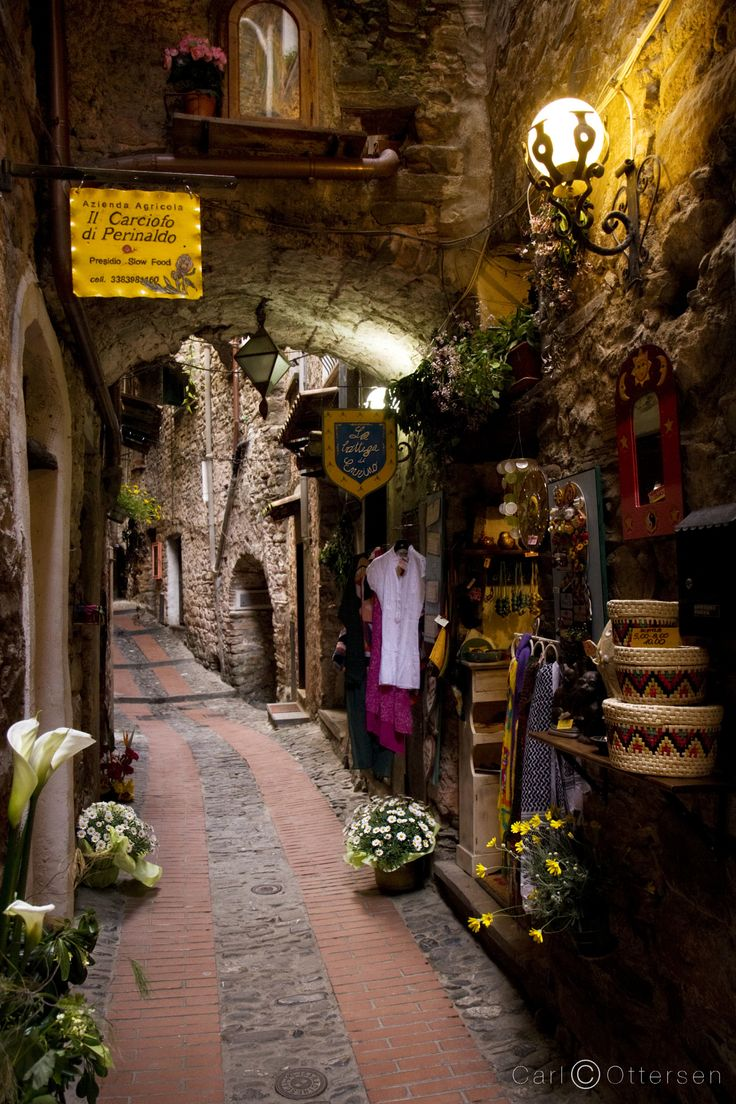 A covered passage in Dolceacqua by Carl Ottersen on 500px