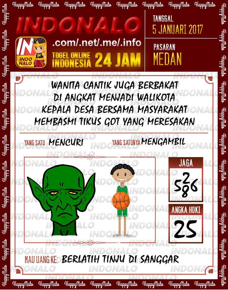 Kode Main 6D Togel Wap Online Live Draw 4D Indonalo Medan 5 Januari 2017