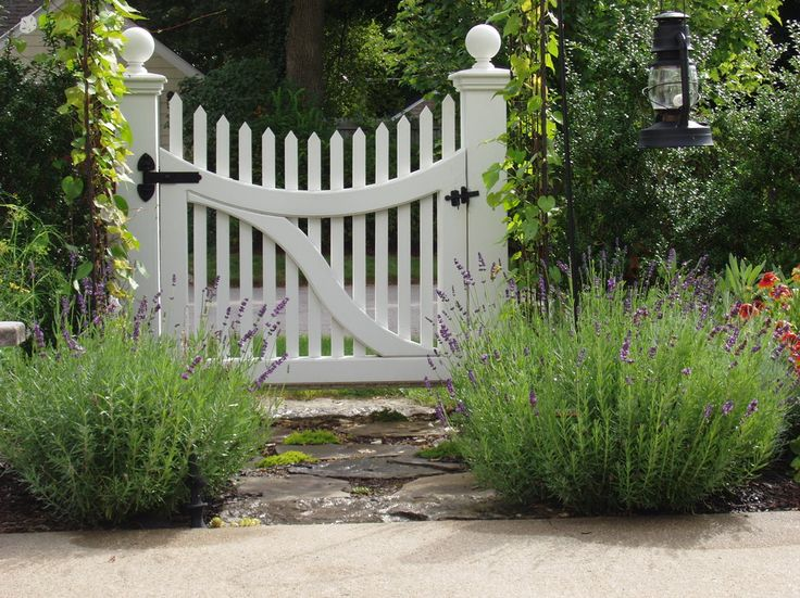 Kendall Lane Designs Traditional Landscape   Garden Gate With Lavender