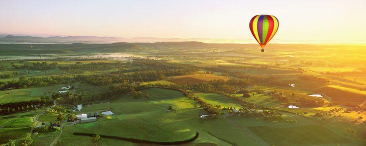 Hunter Valley balloon flight - so romantic!