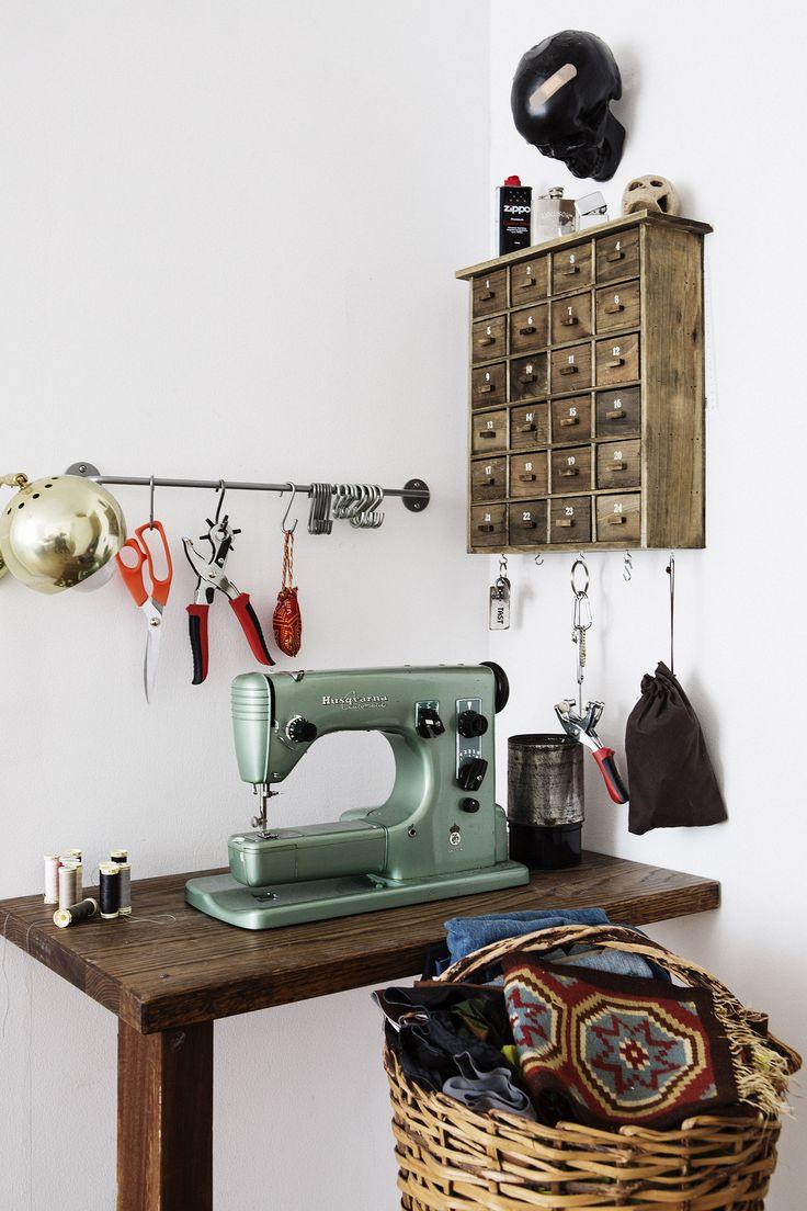 symaskin bord vintage korg sybord